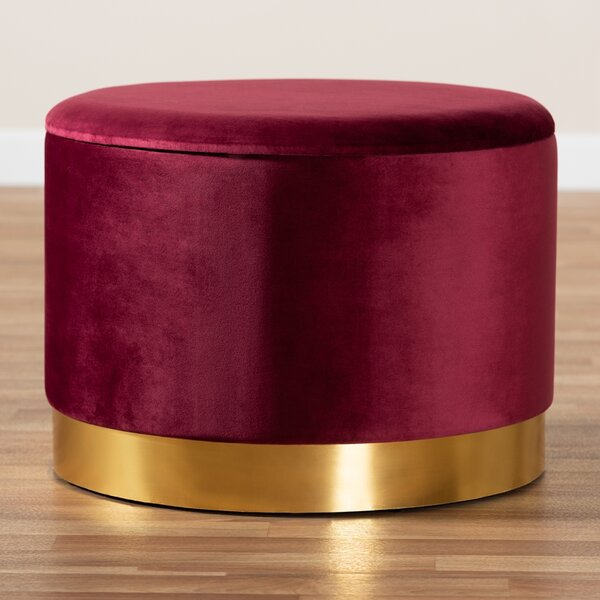 Middlebrook 17.72'' Round Storage Ottoman By Everly Quinn