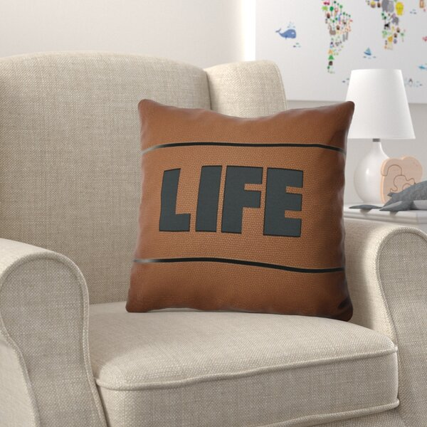 Bauer Life Word Throw Pillow by Zoomie Kids
