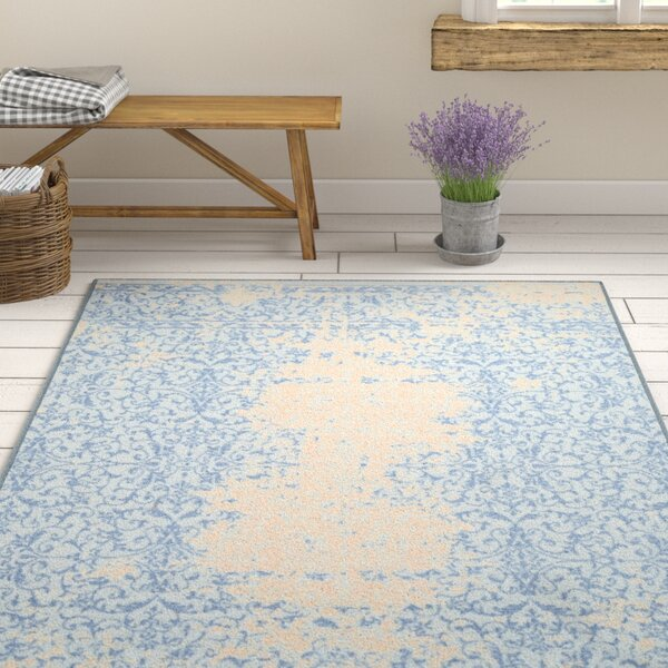 Cassie Blue/Beige Area Rug by Ophelia & Co.