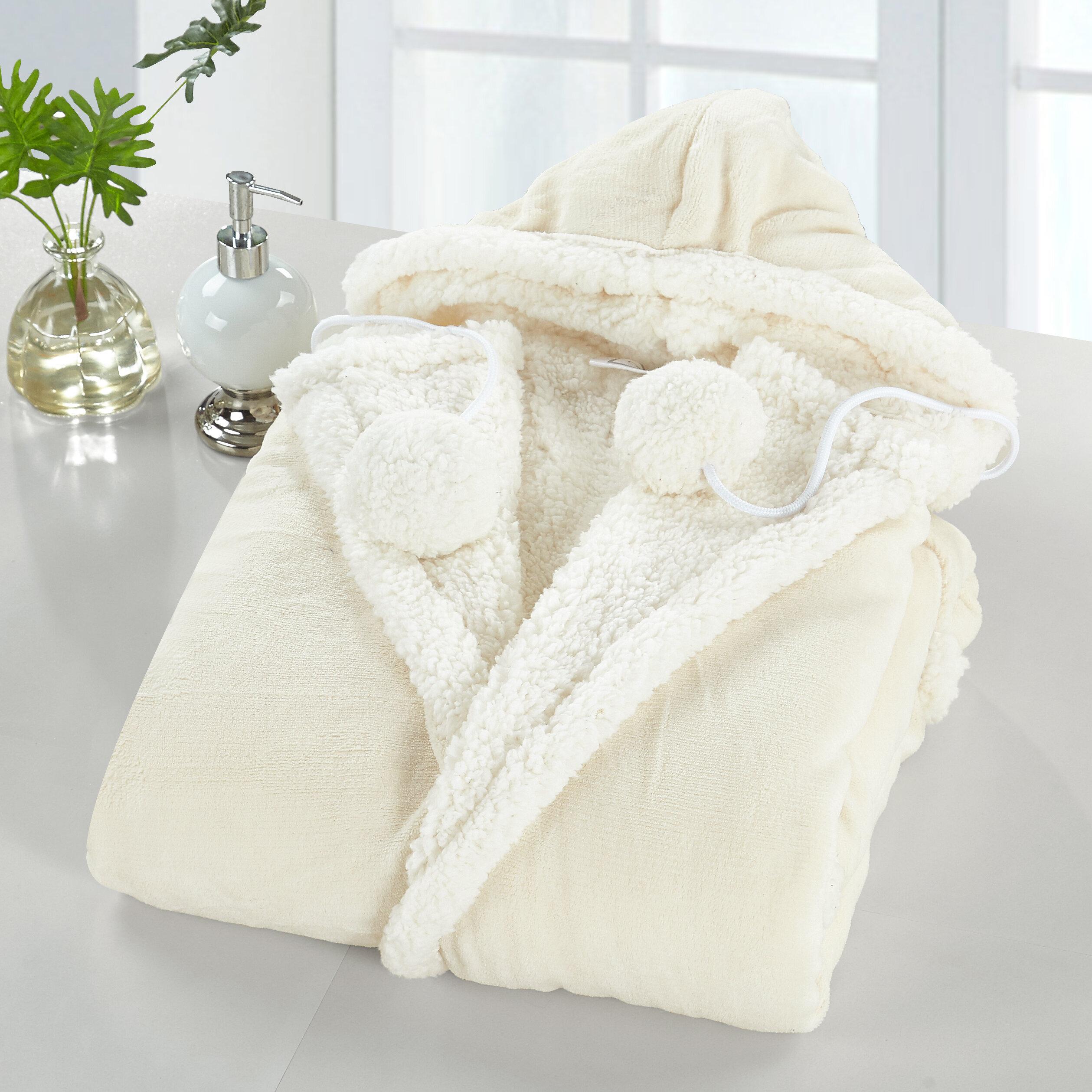 d51d4a3cf6 Gracie Oaks Maraiah Reversible Snuggle Hoodie   Reviews
