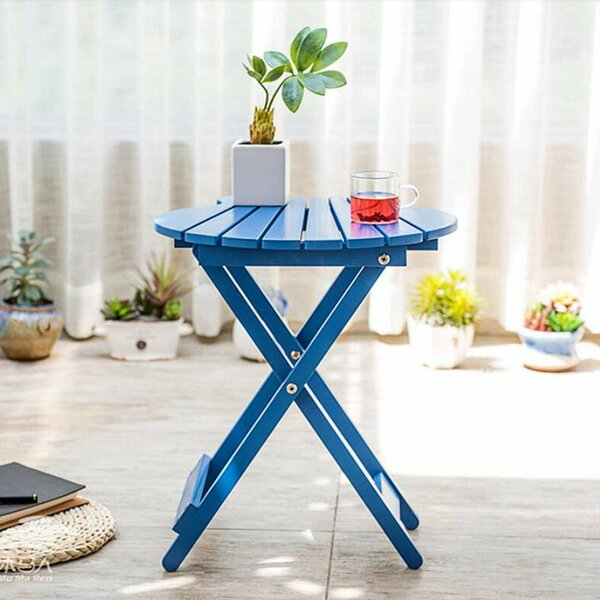 Gingerich Folding Side Table by Highland Dunes