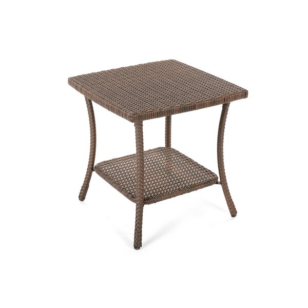 Denham Wicker Side Table by Highland Dunes