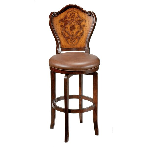 Lyon 30 Swivel Bar Stool with Cushion by Hillsdale Furniture