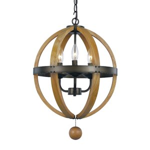Dimitri 3-Light Globe Pendant