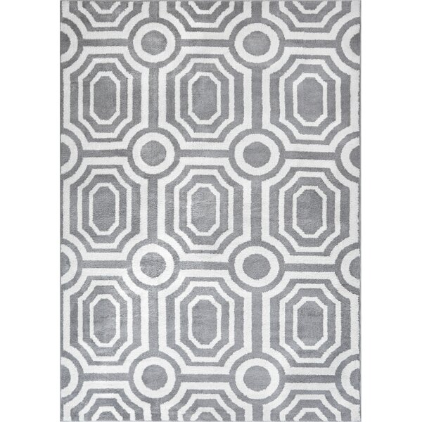 Dority Modern Mosaic Tile Work Gray/Beige Area Rug by Ivy Bronx