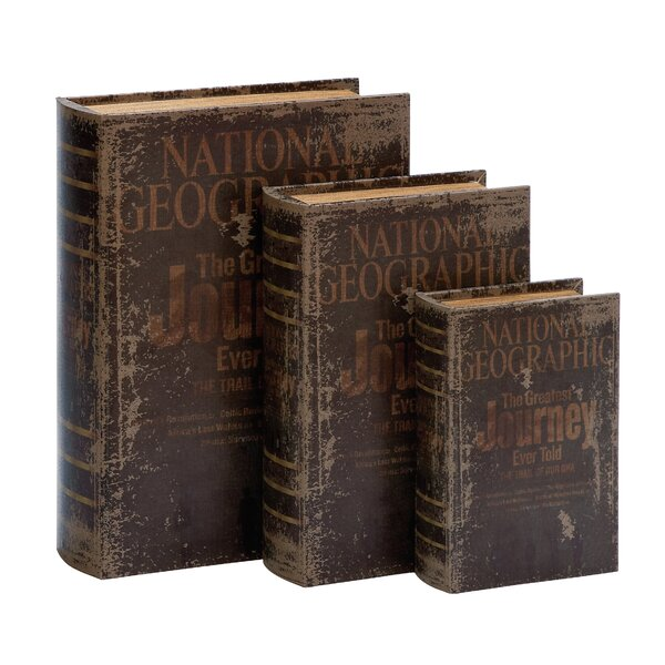 3 Piece Wood Book Box Set by Trent Austin Design