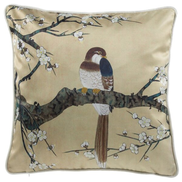 Lampkin Bird Watcher Throw Pillow by Astoria Grand
