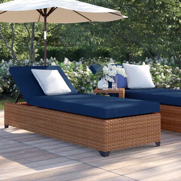 Waterbury Chaise Lounge Set with Cushions and Table by Sol 72 Outdoor Sol 72 Outdoor