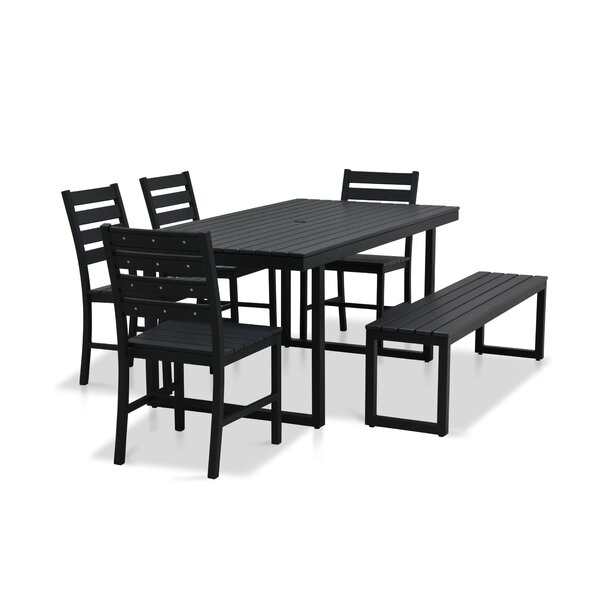 Alissa Outdoor Rectangular 6 Piece Dining Set by Longshore Tides