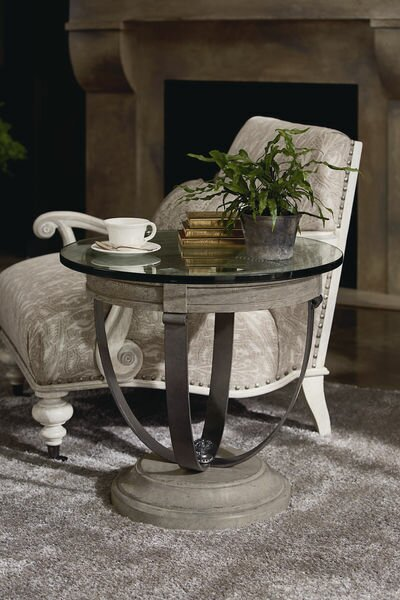 Carolin Lamp End Table by One Allium Way