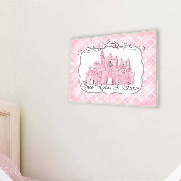 Once Upon a Time Pink Water Color Castle Wall Plaque by Stupell Industries