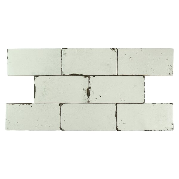 Piedmont 3 x 6 Ceramic Subway Tile in Off-White by EliteTile