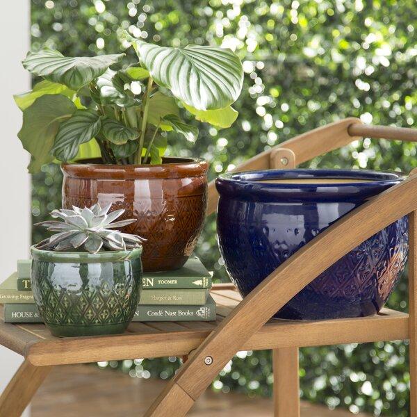 Adah 3-Piece Ceramic Pot Planter Set by World Menagerie
