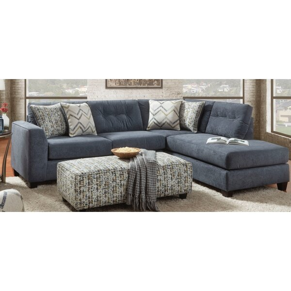Avienda Slate Sectional by Wrought Studio