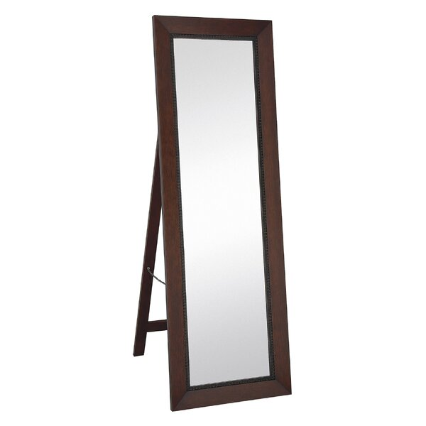 Classic Contemporary Rectangular Mahogany Full length Standing Floor Mirror by Majestic Mirror