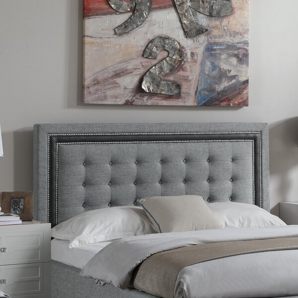 Rawley Upholstered Panel Headboard by Charlton Home
