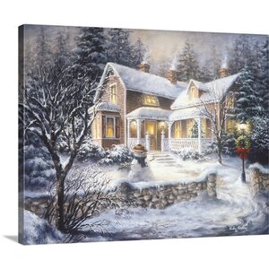 'Winter's Welcome' Rectangle Painting Print on Wrapped Canvas by The Holiday Aisle