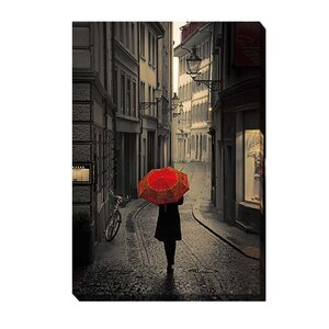 'Red Rain' by Stefano Corso Photographic Print on Wrapped Canvas by Artistic Home Gallery