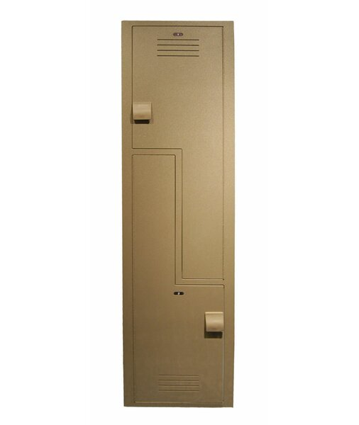 2 Tier 1 Wide School Locker by Lenox Plastic Lockers