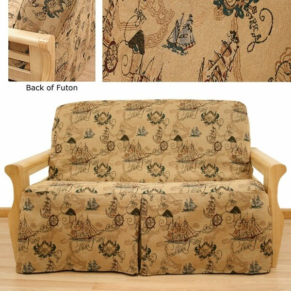 New World Box Cushion Futon Slipcover By Easy Fit