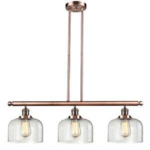 Peristeronari Glass Bell 3-Light Island Pendant  sc 1 st  AllModern & Modern Bell Shaped Pendant Lighting | AllModern azcodes.com