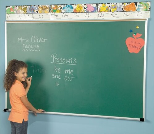 Wall Mounted Magnetic Chalkboard by Best-Rite®