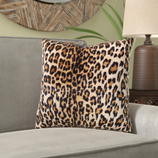 Ramires Cheetah Print Throw Pillow by World Menagerie