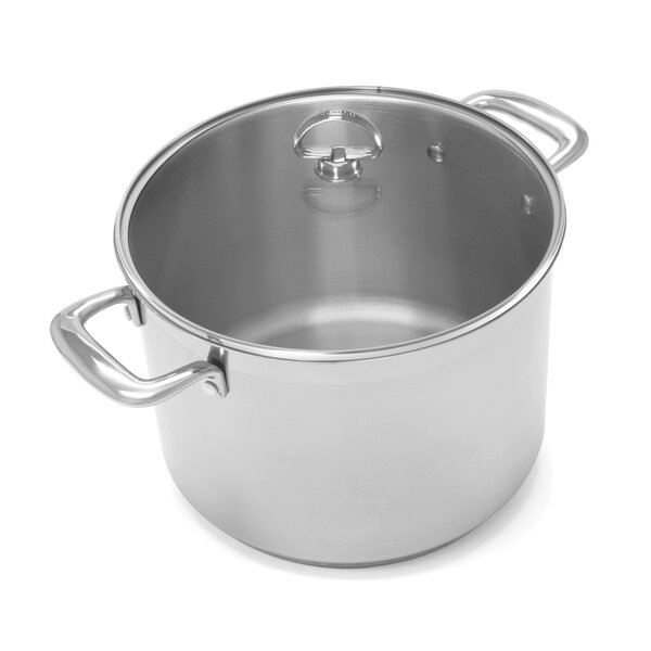 Induction 21 Steel™ 8-Qt. Stock Pot with Lid by Chantal