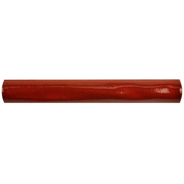 Antiqua 5.88 x 0.75 Ceramic Torelo Trim Tile in Red/Brown (Set of 12) by EliteTile