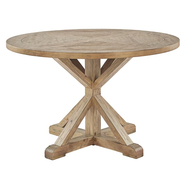 Peralta Rustic X-Base 5 Piece Dining Set by Lark Manor