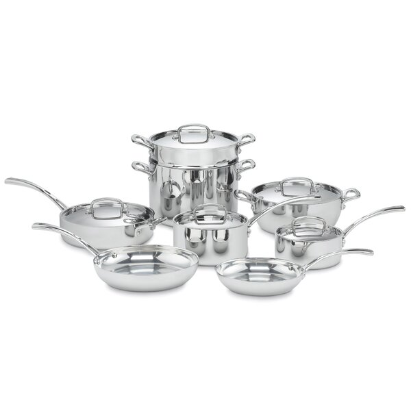 French Classic 13-Piece Stainless Cookware Set by Cuisinart