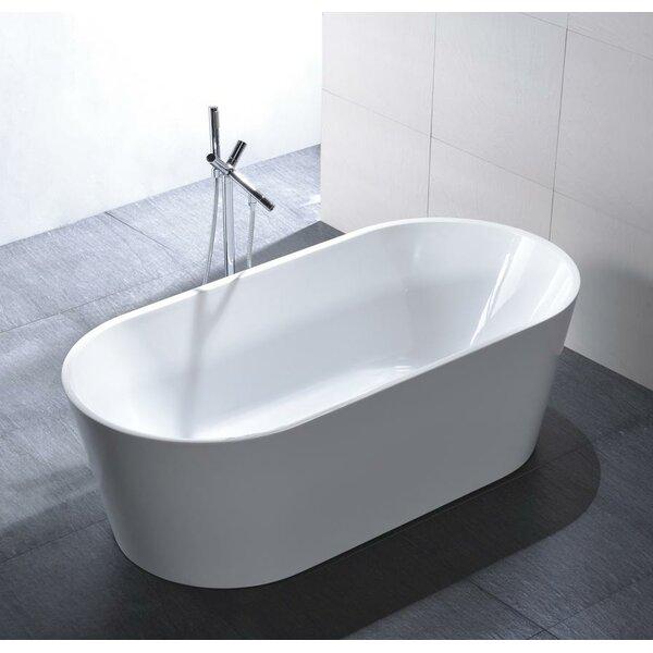 Laguna 60 x 23.6 Soaking Bathtub by MTD Vanities