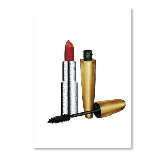 Lipstick and Mascara Graphic Art by East Urban Home