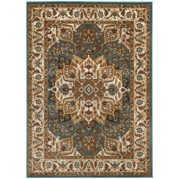 Lowe Teal Area Rug by Charlton Home