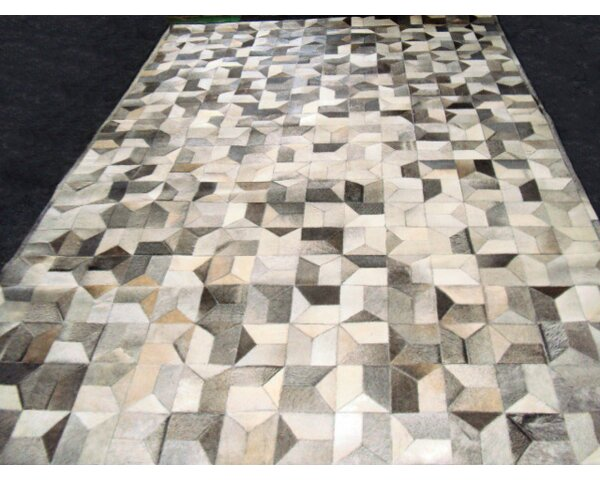 Patchwork Multi Geo Gray Area Rug by Modern Rugs
