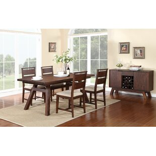 Damiani 5 Piece Solid Wood Dining Set By Brayden Studio