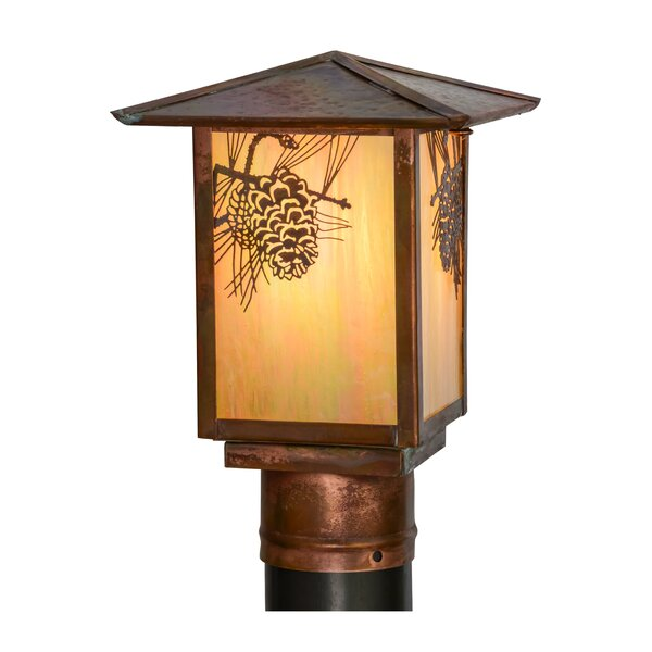 Greenbriar Oak Seneca Winter Pine 1-Light Lantern Head by Meyda Tiffany