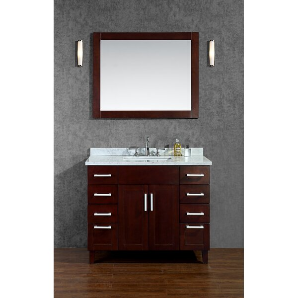 Frampton 42 Single Bathroom Vanity Set with Mirror by Ariel Bath