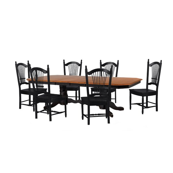 Lockwood 7 Piece Dining Set by Loon Peak