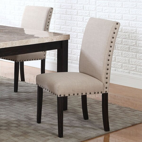 Dining Side Upholstered Dining Chair (Set of 2) by BestMasterFurniture