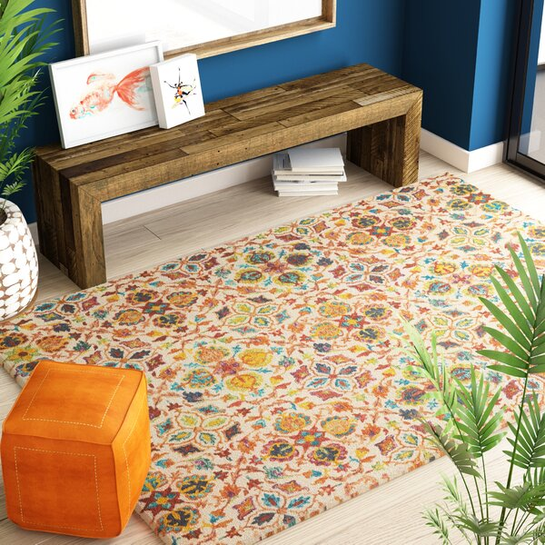 Zosia Hand Tufted Wool Ivory Area Rug by Bloomsbury Market