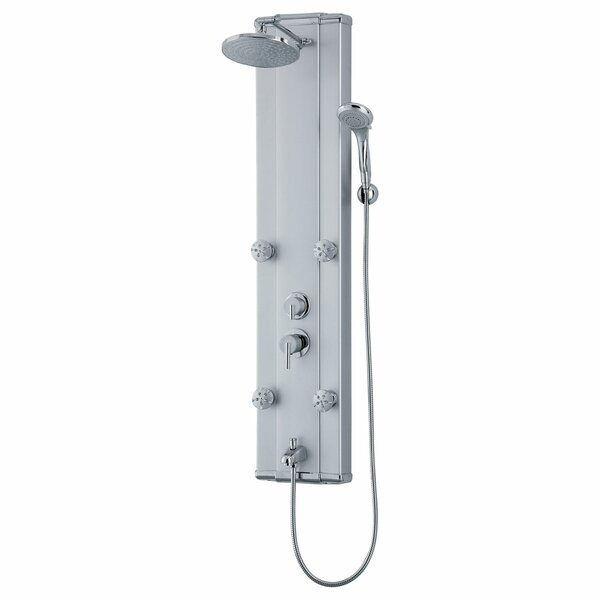 Adjustable Massage Jets and Thermostatic Valve Controls Rain Shower Panel System by LessCare