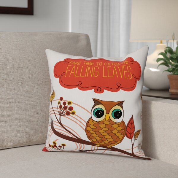 Friendly Fall Reminder Throw Pillow by The Holiday Aisle
