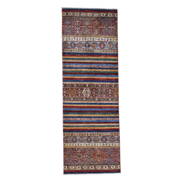 One-of-a-Kind Tillman Super Khorjin Hand-Knotted Brown/Beige Area Rug by Millwood Pines