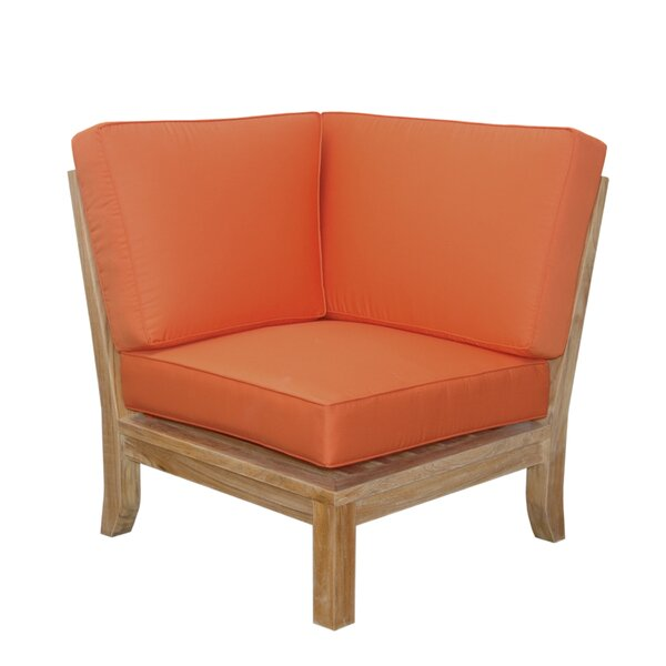 Luxe Teak Corner Patio Chair with Sunbrella Cushions by Anderson Teak