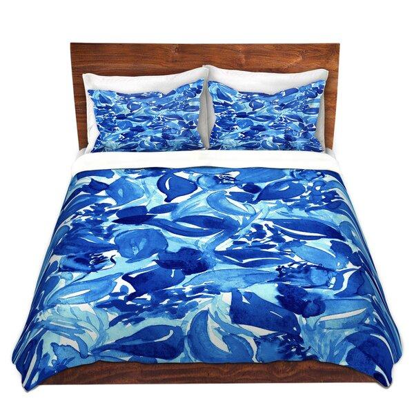 Byromville Julia Di Sano Blossoms Unchained Blue Turquoise Microfiber Duvet Covers