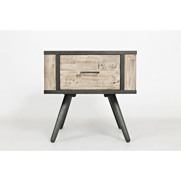 Conners Wood and Metal End Table by Union Rustic