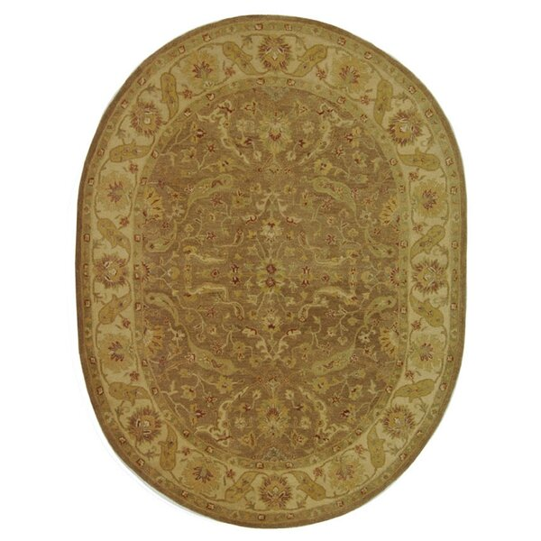 Dunbar Hand-Woven Wool Brown/Gold Area Rug by Charlton Home