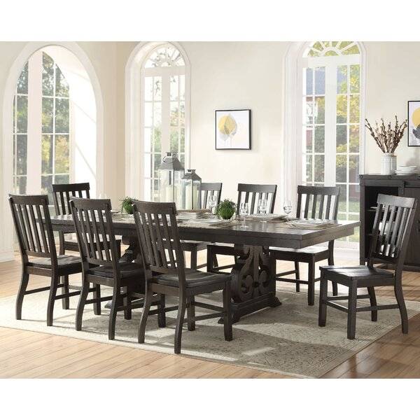 Oswin 9 Piece Extendable Dining Set by Andrew Home Studio