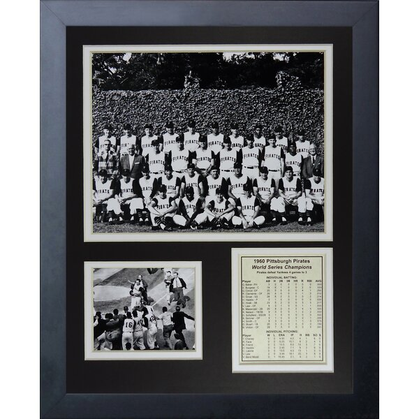1960 Pittsburgh Pirates Framed Memorabilia by Legends Never Die